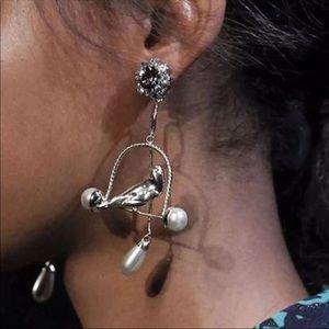 Birdcage massive piercing earrings